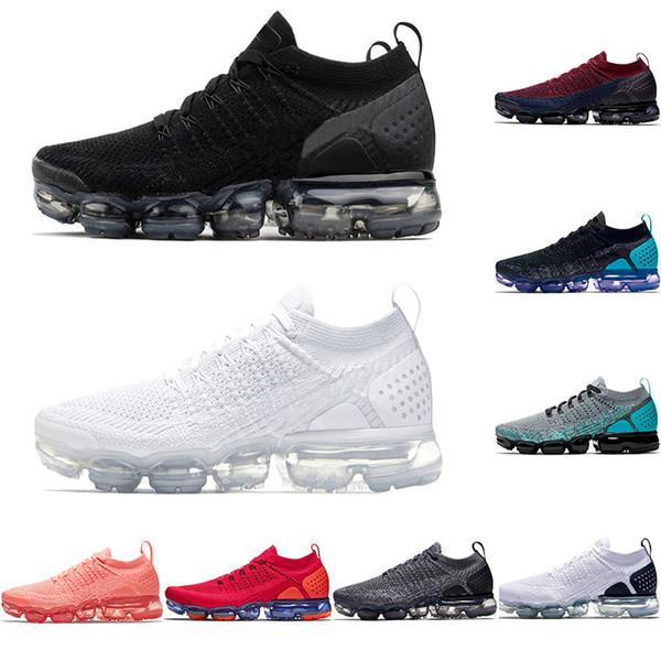 Compre Nike Air Vapormax 2.0 Nuevo 2.0 Zapatillas Para Correr Hombres Mujeres Estuco Oscuro Espíritu Gris Oscuro Oreo Triple Negro Blanco Caminar