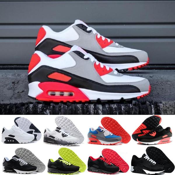 nike air max 90 airmax  2018 Hot Sale Cushion 90 Chaussures De Course Hommes 90 Haute Qualité Nouveaux Baskets Pas Cher Chaussures De Sport Taille 40-45 R645