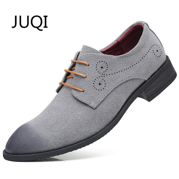 Men'S Genuine Leather Casual Shoes For Cow Suede Breathable Oxfords Patchwork Brogue Moccasins Mens Moccasin Rubber Shoes