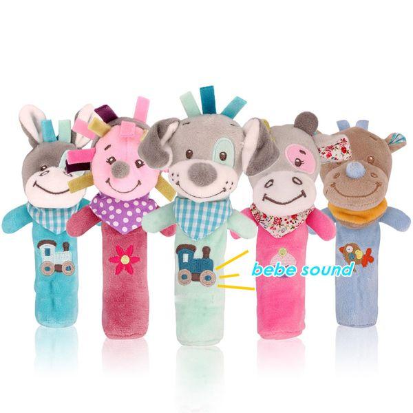 Bearoom Baby Rattle Mobiles Cute Baby Toys Cartoon Animal Hand Bell Rattle Soft Toddler Oyuncak Plush Bebe Toys 0-12 Months