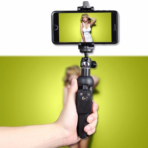 Orijinal YUNTENG YT-9928 Wreless Özçekim Sopa Tripod Bluetooth Uzaktan Uzatılabilir Monopod Tutucu Dağı Klip iphone 7/8/ X Samsung