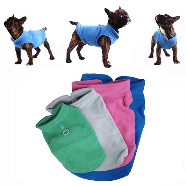 Winter Fleece Pet Clothes for Dogs Puppy Clothing French Bulldog Coat Pug Costumes Jacket For Small Dogs Chihuahua Hondenkleding