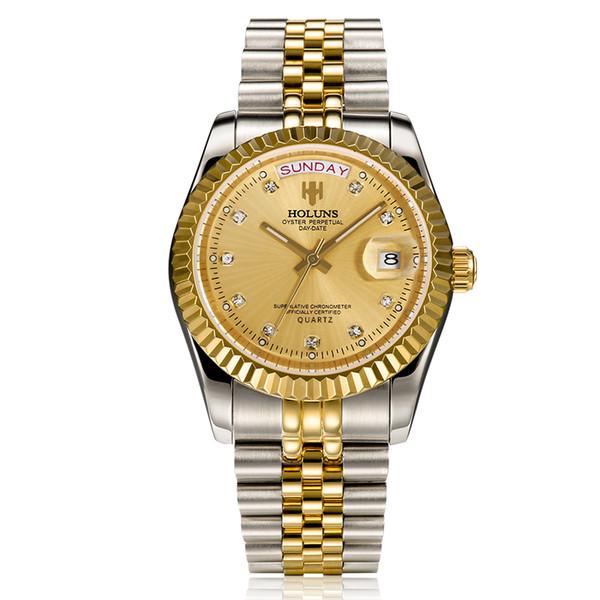 2019 роскошные часы мужские Datejust 36 мм из нержавеющей стали японский кварцевый механизм плавать мужские часы мужские светящиеся наручные часы BRW HOLUNS