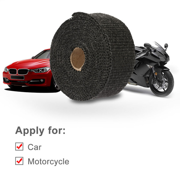 Freeshipping Motorcycle Exhaust Pipe Header Heat Wrap Resistant Downpipe 10 Stainless Steel Ties 5mx5cm for Car Motorcycle Accessories