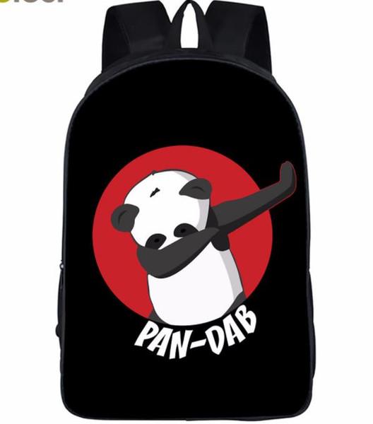 Cartoon Dabbing Unicorn Panda Backpacks boys outdoor travel shoulder bags girls School Bags Bookbags for kids