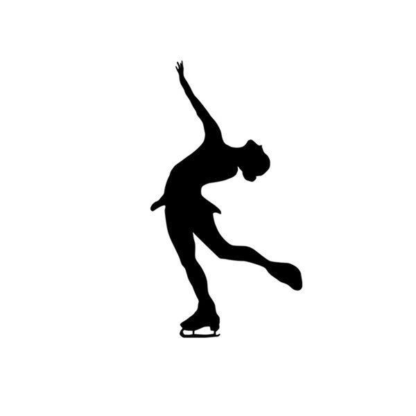 wholesale 20pcs/lot Winter Sports Modern Figure Skating Ice Dance Pose Designed Vinyl Decals Car Sticker Truck Window Bumper Laptop Wall