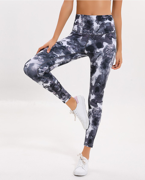 top popular Lu-32 New Women Yoga Pants High Quality Sports Leggings For Women Quick Dry Running Gym Tights Lady Sportswear Trousers 2019