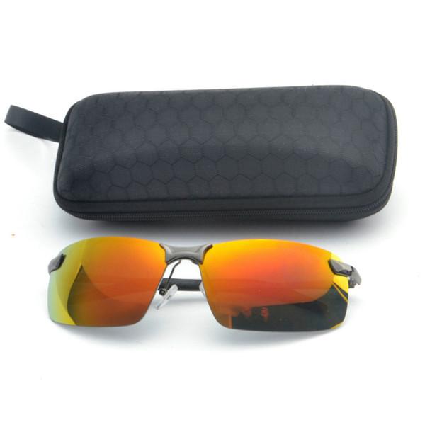 Kadınlar Polarize Güneş Gözlüğü Marka Tasarımcısı Kare Metal Gözlük Aksesuarları Degrade Renk Lensler erkek Sürüş Gözlük UV FML