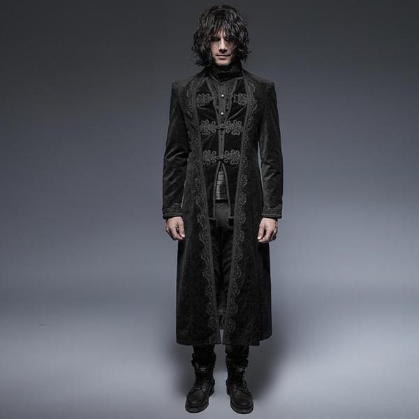 Vintage manteau long Targaryen pour hommes Punk Rave Y-651