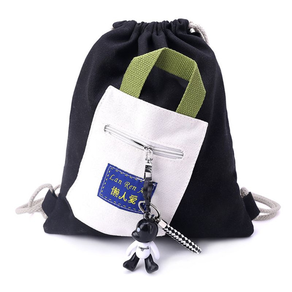 WCJ Casual Fashion Canvas Shoulder Bag Messenger Bag Mens Backpack Retro Trend Package