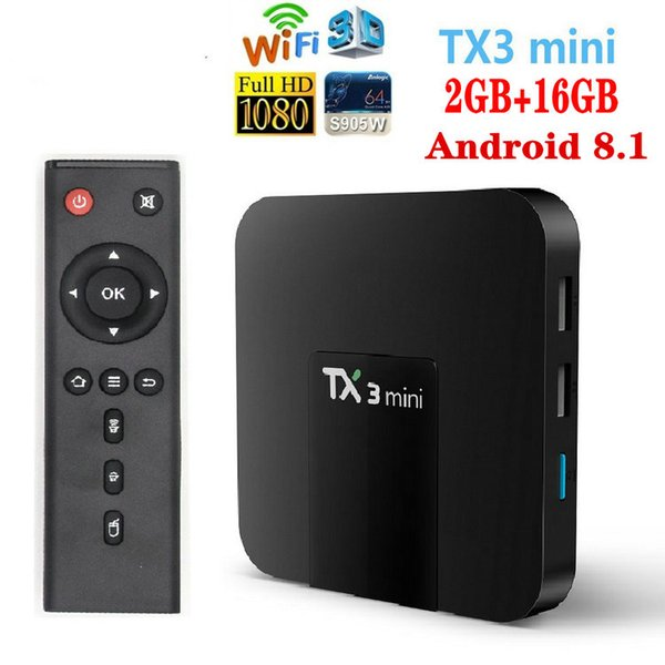 TX3 Mini, 2GB+16GB, S905W, 2.4 G Wifi, нет BT