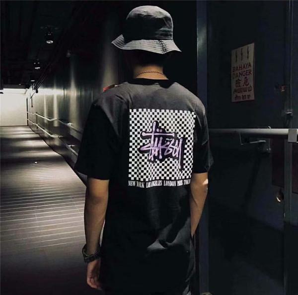 Мужчины дизайнер футболки лето роскошный тройник мужская полосатая рубашка свободные буквы печати хип-хоп уличный бренд футболка размер M-2XL