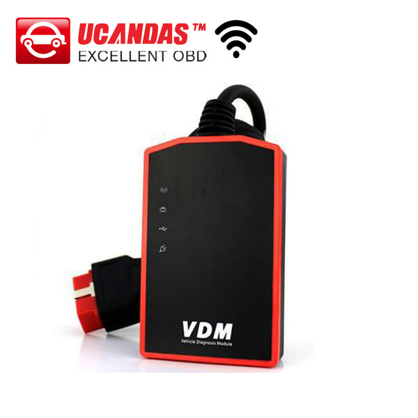 Professional Wireless Universal Car Diagnostic Tool UCANDAS VDM Update Online Auto Scanner wifi function DHL Free