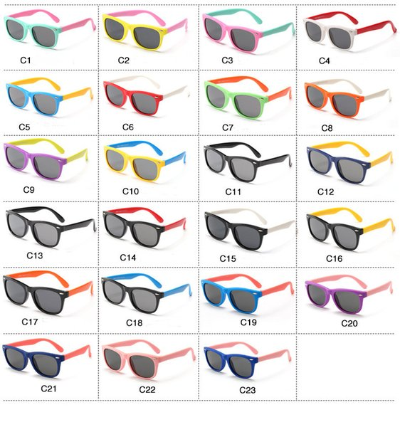 New Arrived Polarized light Classic Cute Kids Sunglasses UV400 Boys Girls Lovely baby Sun Glasses Children Outdoor Accessories 60 pcs