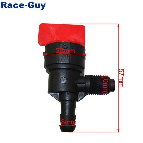 1 Race-Guy 90/° Inline Fuel Shut Off Valve For Briggs /& Stratton 399517 698182
