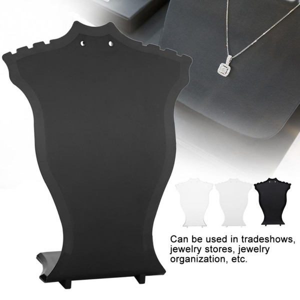 Jewelry Display Stand Pendant Necklace Chain Holder Earring Bust Display Stand Showcase Rack Black White Transparent