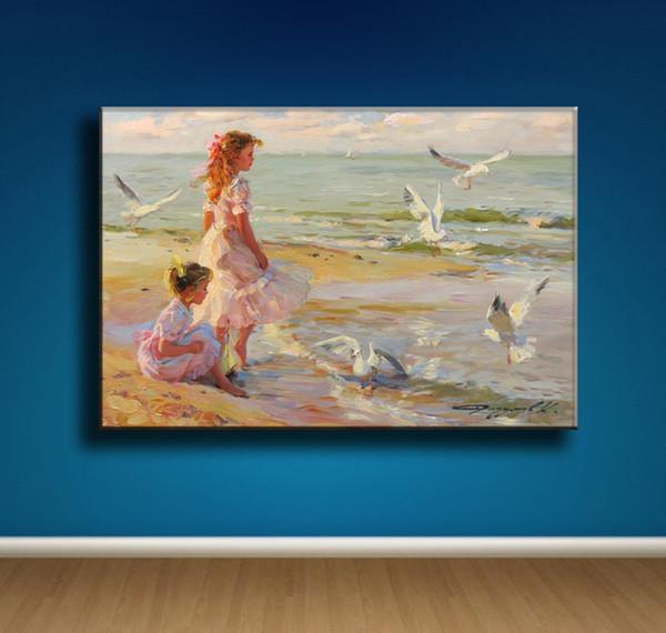 Konstantin Razumov Girl,1 Pieces Canvas Prints Wall Art Oil Painting Home Decor (Unframed/Framed) 16X24. #04