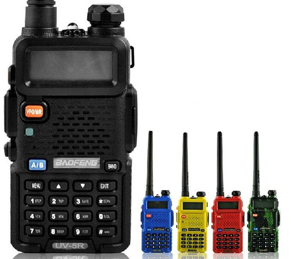top popular BaoFeng UV-5R UV5R Walkie Talkie Dual Band 136-174Mhz & 400-520Mhz Two Way Radio Transceiver with 1800mAH Battery free earphone 2021