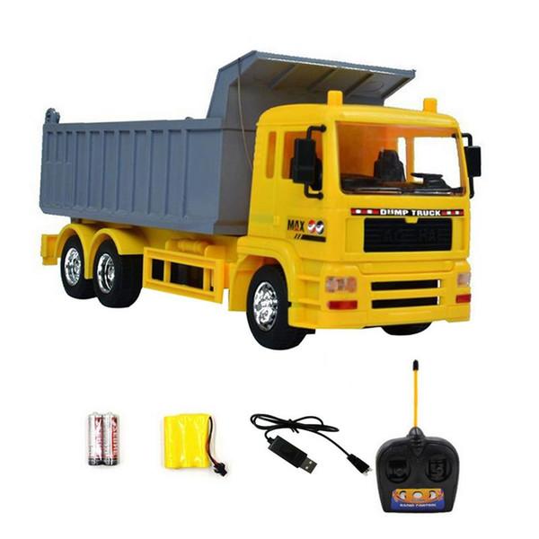 01:20 Télécommande sans fil ingénierie camion prêt à aller pelle jouet Télécommande ingénierie camion à benne basculante modèle véhicule jouets