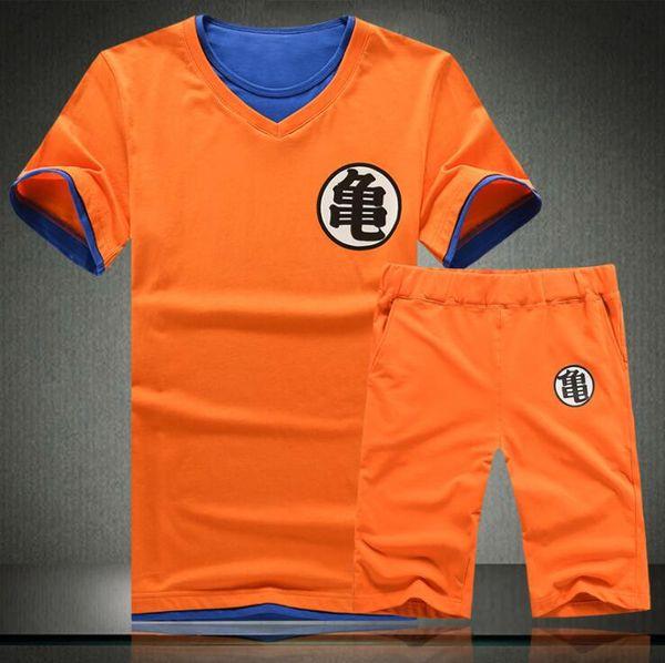 Dragon Ball Clothing Set Men Summer Dragon Ball Mens Slim Fit Cosplay 3D T Shirts Casual Cotton Tracksuits Homme China Japan Cartoon