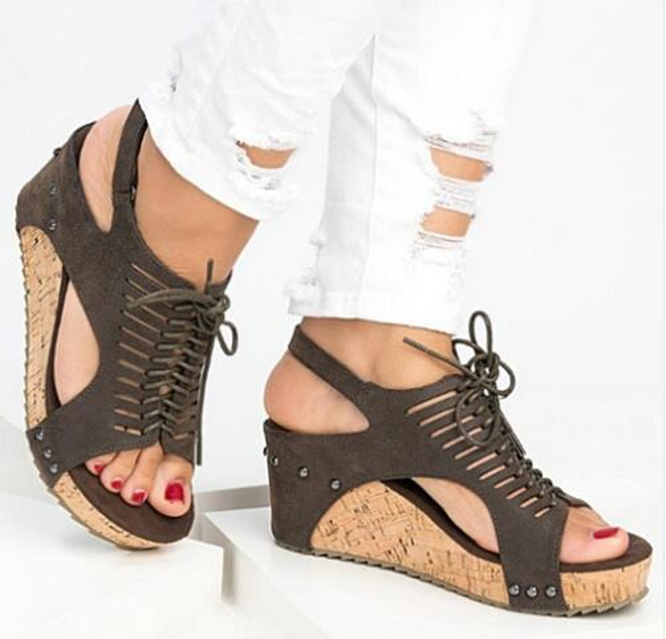 Platform Sandals Wedges Shoes For Women Heels Sandalias Mujer Summer Shoes Clog Womens Espadrilles Gladiator Women Sandals 2019