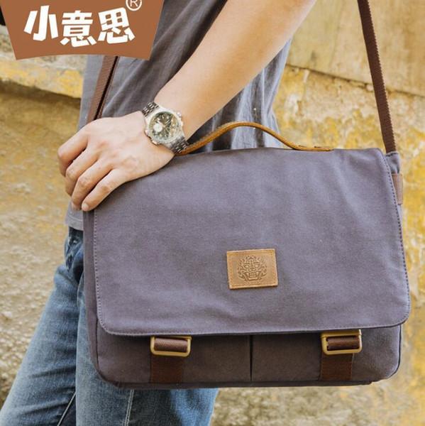 sales brand men handbag fashion belt decoration men mailman bag outdoor canvas multifunctional shoulder bag casual leather Messenger bag