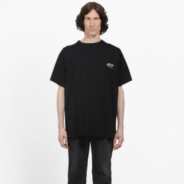 Best Version Luxury European Cola Wave Short Sleeve Letter Printing Oversize EU Men And Women Couple Comfortable Cotton T-Shirt HFWPTX256
