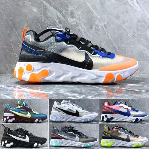 React Element running shoes for men women white black NEPTUNE GREEN blue mens trainer designer breathable sports sneakers size 36-45 V2H51