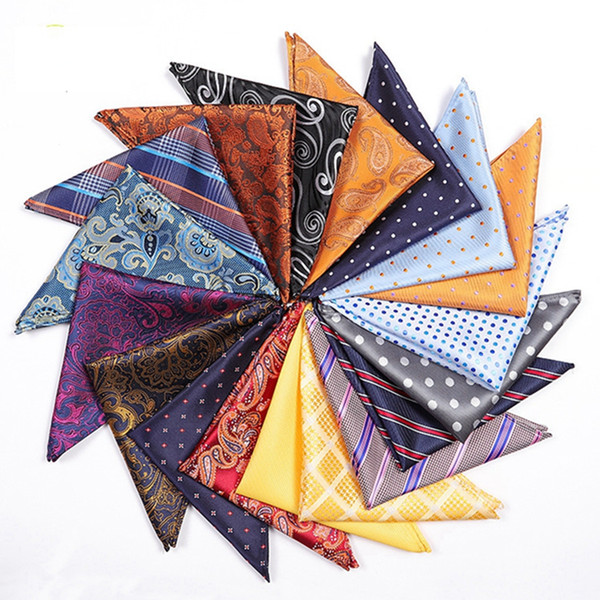 Mode Männer Anzug Einstecktuch Taschentuch 25 * 25 CM Vintage Polyester Taschentücher Klassische Blumendruck Quadrat Handtuch Schals TTA1001