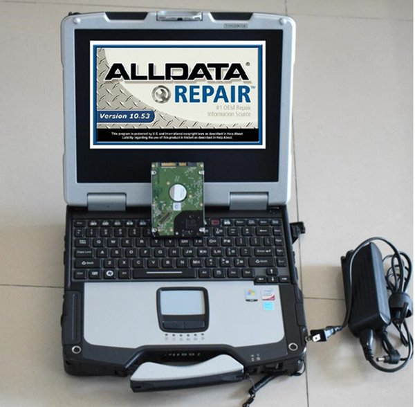 installed version alldata latest all data 10.53 and atsg auto repair with 1000gb hard disk laptop cf30