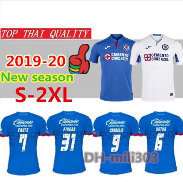 Thailand Quality 2019 2020 Mexico Club Cruz Azul Soccer Jerseys 19/20 CARAGLIO MONTOYA MENDEZ football Shirts camisetas de futbol S-2XL