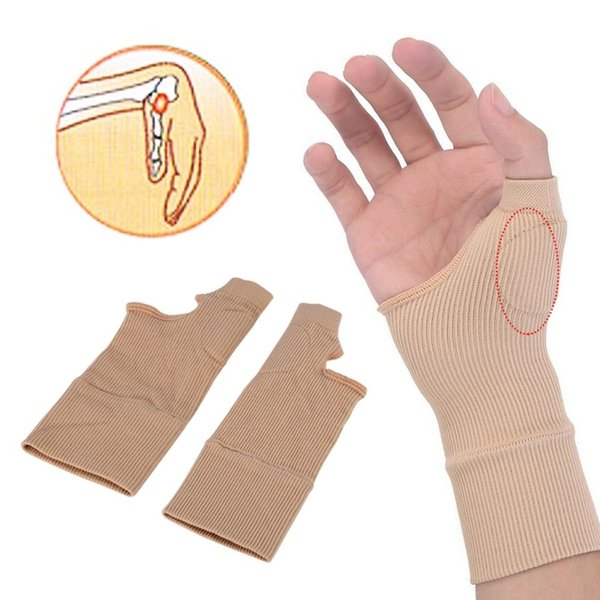 1 Pair Wrist Support Gel Silicone Brace Relief Compression Glove Thumb Hand Wrist Support Adult Wrist Guard