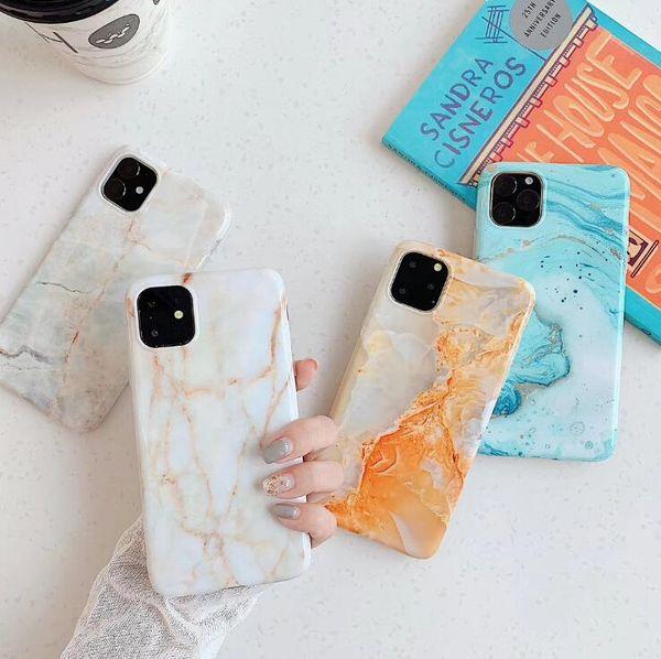 IPHONEXS MAX cep telefonu durumda 7P her şey dahil IMD yumuşak kabuk xr akıllı saat için Yeni iPhone 11 Pro max mermer deseni