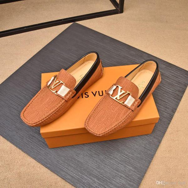 2020ss Patent Schuh Männer High Top Schuh Stepptanz Schwarz Büro Schuhe Metall Punkt Tragen Gut Vintage Schuhe Luxus Männer Schuhe