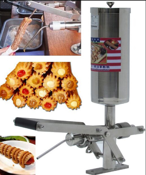 Commercial pani h churro fritter filling machine manual jam filling tool churro jam filler nack equipment tainle teel