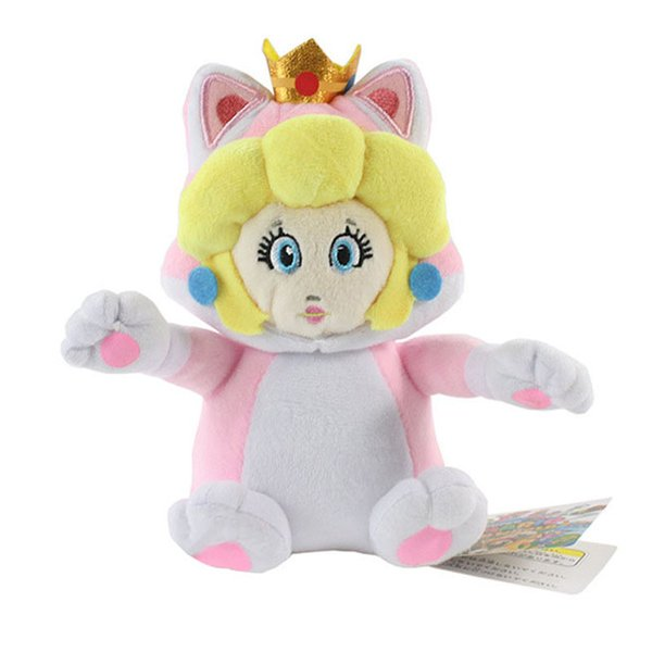 Hot Sale 6inch 15cm Daisy Princess Cat Super Mario Bros Plush Stuffed Doll Toy For Kids Best Holiday Gifts Wholesale