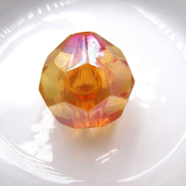 AB Effekt Orange 20 MM Acryl Facettierte Chunky Perlen Transparent Runde Doppelkegel Hexagon Perlen Für Frauen Kinder Perlen Halskette Machen