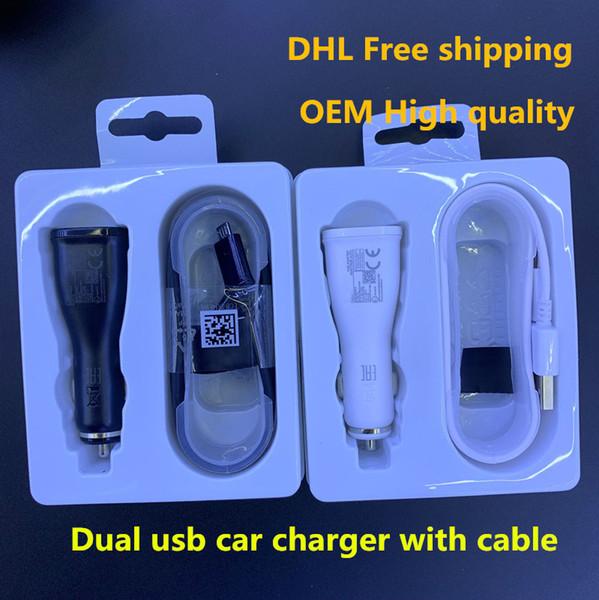 Caricabatterie per auto a 3 porte per presa USB con adattatore per caricabatterie per auto USB triplo universale per telefono cellulare DHL libero