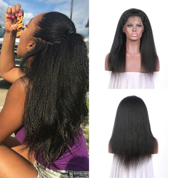 Pelucas delanteras del cordón del pelo humano virginal El color natural sin procesar del pelo humano recto rizado se puede teñir