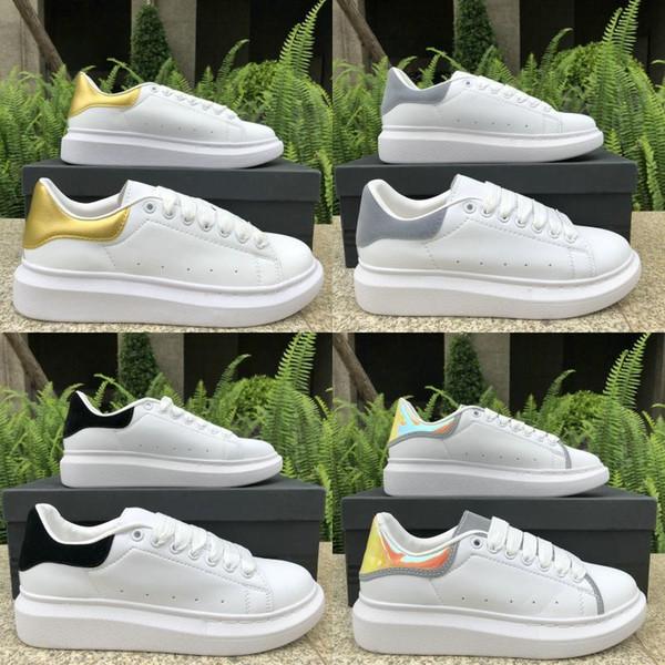 2019 Designer Luxe Hommes Femmes Chaussures mode plat chaussures Casual Top Noir pPink en cuir vert Chaussures de sport Runner États-Unis entraîneur 5-11