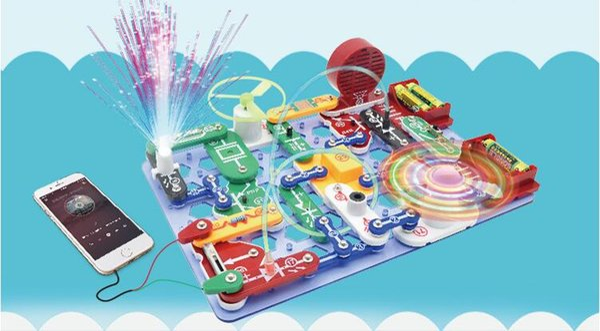 STEM Physical Learning Toys Drill Play Circuit créatif Jeux éducatifs Kit de conception de fonctions Bloc de construction DIY