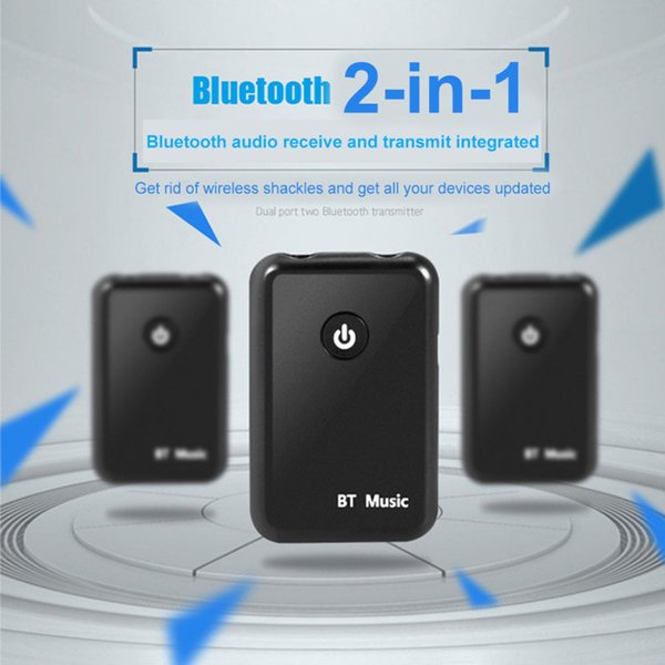 Bluetooth Car Kit Aux Receiver Fm Trasmettitore Two In One Double Jack adattatore Bluetooth Audio Transmitter Car Headset Receiver