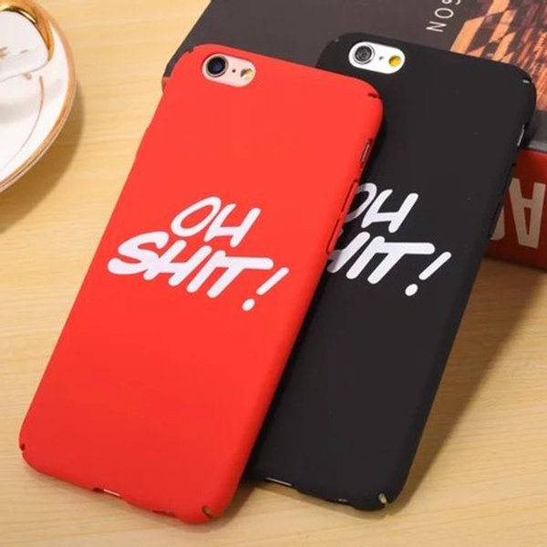 Fashion Hip Hop Cool Phone Case for IphoneX Iphone 7Plus/8Plus 7/8 6/6sPlus 6/6s Cool Protective Back Cover Phone Case 2 Color Available