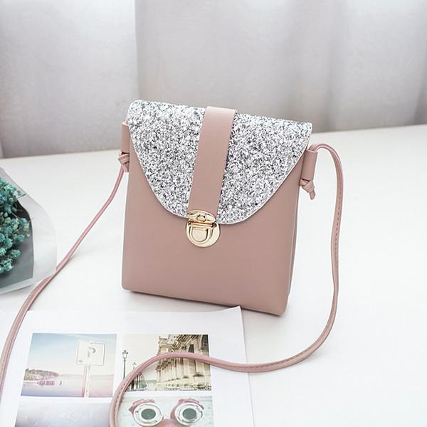 porte-monnaie et sacs à main pour femmes sac à main petit bling bling sac à bandoulière mini-mignon couleur unie sac brillant sac corps mobile croix