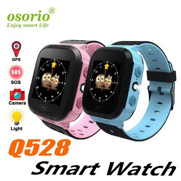 2019 New Q528 Kids Real GPS Tracker Watch Kids Smart Watch with Flash Light Touch Screen SOS Call Location Finder for Child DHL
