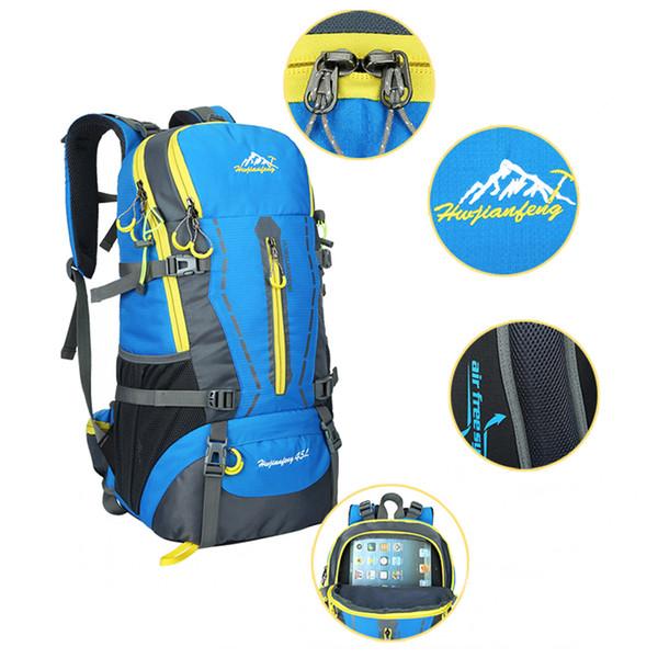 45L Wasserdichte Frauen und Männer Reiserucksack Outdoor Camping Mochilas Klettern Wandern Rucksack Rucksack Sport Zurück Tasche