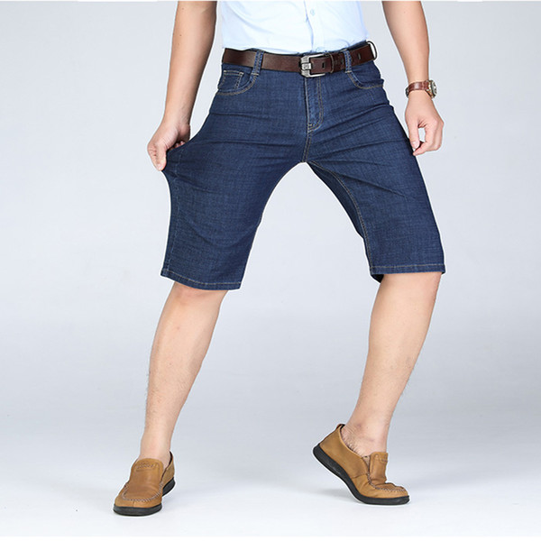 New Fashion Mens Short Jeans Brand Clothing Bermuda Mens Denim Shorts Slim Casual Summer Jeans Shorts Male