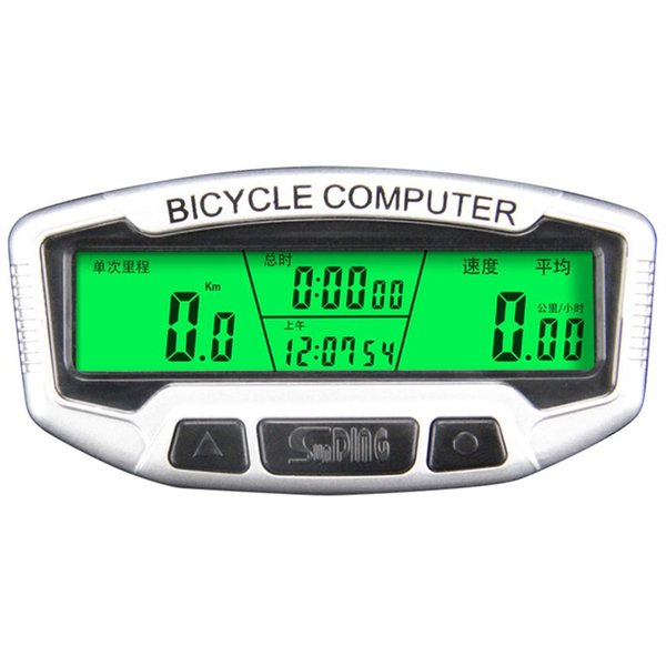 SUNDING Bike Computer Speedometer Wireless Waterproof Bicycle Odometer Cycle Computer Multi-Function LCD Back-Light SD-558C #791625