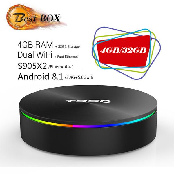 T95Q Android 8.1 TV Box Amlogic S905X2 Quad Core 4K HD Smart Mini PC 4G 32G Wifi H.265 Smart Media Player Better X96 MAX H96 MAX+