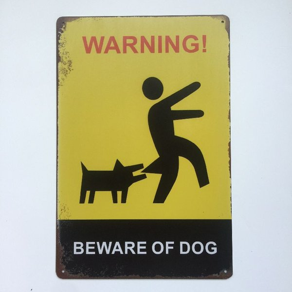 Beware Of Dog Vintage Metal Tin sign poster for Man Cave Garage shabby chic wall sticker Cafe Bar home decor